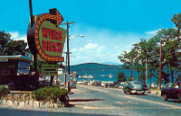 Weirs Beach sign in the 1950s